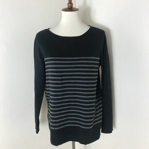 Eileen Fisher boxy cotton stripe sweater